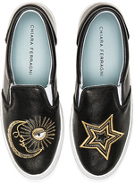 Chiara Ferragni Starry Slip On Sneaker in Black