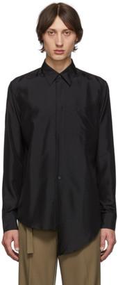 Givenchy Black Silk Poplin Shirt