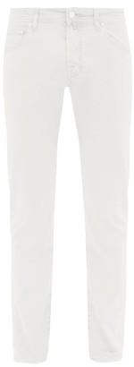 Jacob Cohen Stretch Cotton Slim Leg Chino Trousers - Mens - White