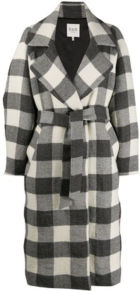 Sea Oversized Checked Trench Coat