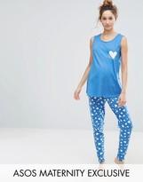 Asos Heart Print PJ Set