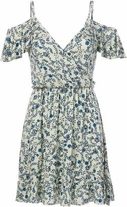 Clayton Women's Joni Floral Print Cold Shoulder Dress