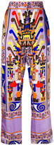 Emilio Pucci printed pyjama trousers - women - Silk/Acetate/Viscose - 40