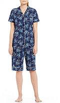 Cabernet Floral Bermuda Pajamas