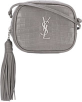 Saint Laurent Monogramme croc-effect shoulder bag
