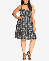 City Chic Trendy Plus Size Sweetheart Fit & Flare Dress
