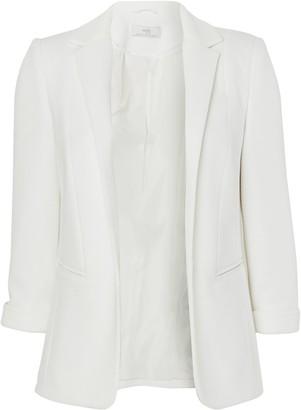 Wallis PETITE Ivory Ponte Jacket