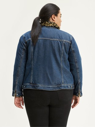 Levi's Plus Ex-boyfriend Sherpa Trucker Jacket - Blue