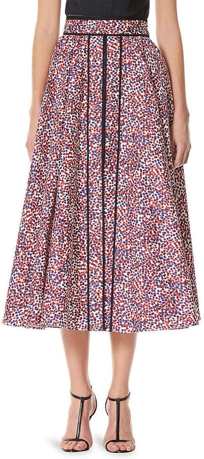 Carolina Herrera Polka Dot Printed Skirt