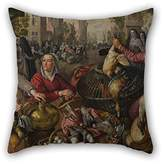 slimmingpiggy The Oil Painting Joachim Beuckelaer - The Four Elements- Air Cushion Cases Of Decoration Gift For Club Coffee House Deck Chair Kids Father Wife (each Side)