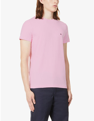 Tommy Hilfiger Logo-embroidered organic cotton-jersey T-shirt