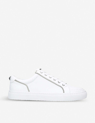 Kurt Geiger Southgate zip trim leather trainers