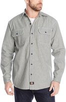 Dickies Men's Big-Tall Long Sleeve Button-Front Logger Shirt
