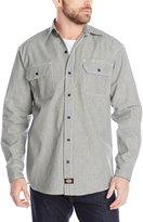 Dickies Men's Big-Tall Long Sleeve Button-Front Logger Shirt