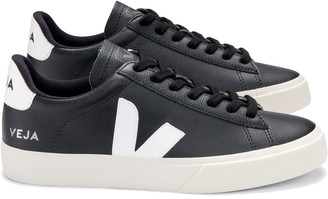 Veja Campo Chrome Free Leather Trainers Shoes - Black White - 36 (UK 3)