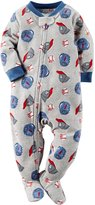 "Carter's Little Boys' Toddler ""Baseball Summer"" Footed Pajamas"