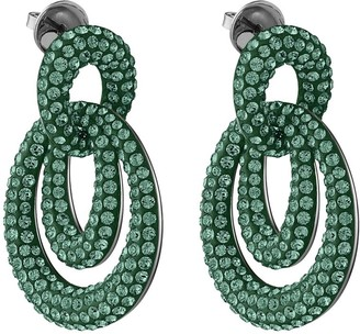 Swarovski Tigris Drop Earrings - Emerald Green