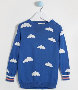 Sugarhill Boutique Nico Mini Me Summer Skies Sweater - 2-3 - Blue/White