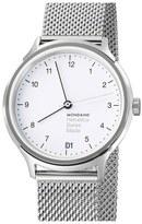 Mondaine 'Helvetica No.1 Regular' Round Mesh Strap Watch, 33mm