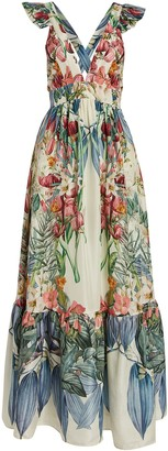 Carolina K. Penelope Floral Silk Maxi Dress
