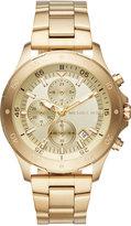 Michael Kors Men's Chronograph Walsh Gold-Tone Stainless Steel Bracelet Watch 44mm MK8570