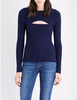 Frame Overlap ribbed-knit jumper