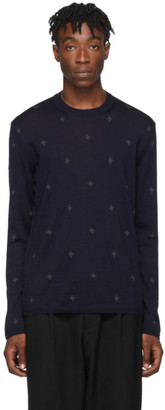 Comme des Garcons Homme Deux Black Worsted Wool Sweater