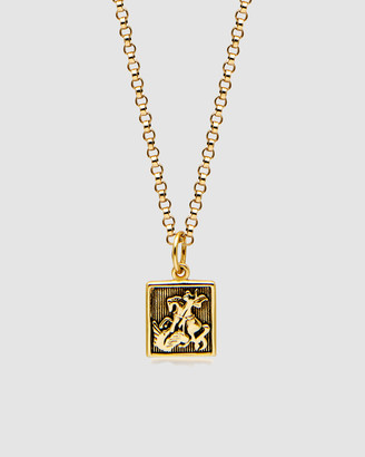 Nialaya Jewellery Men's Necklace with Saint George and The Dragon Pendant