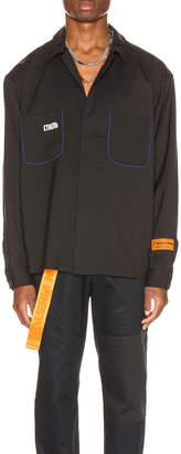 Heron Preston CTNMB Worker Shirt in Black | FWRD