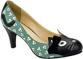 T.U.K. Blue & Black Floral Cat Pump