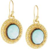 Armenta Old World Oval Turquoise Doublet & Diamond Drop Earrings