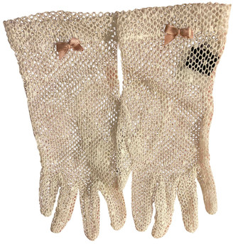 Miu Miu White Cotton Gloves