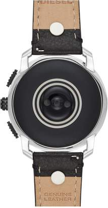 Diesel Gen 5 Full Display Stainless Steel Case Dial Black Leather Studded Strap Smart Watch