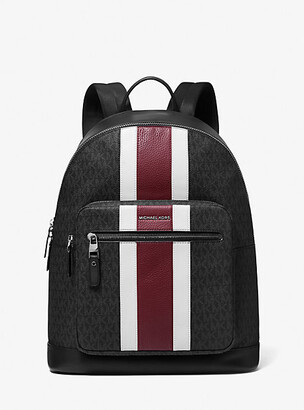 Michael Kors Hudson Logo Stripe Backpack