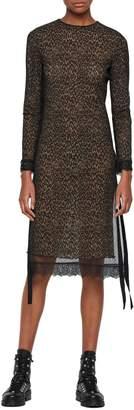 AllSaints Kiara Long Sleeve Sheath Dress