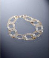 gold etched oval link bracelet