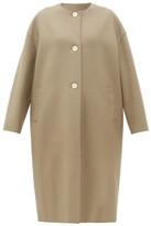 Harris Wharf London Collarless Single-breasted Felted-wool Coat - Womens - Light Brown