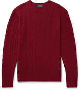 Polo Ralph Lauren - Slim-fit Cable-knit Wool And Cashmere-blend Sweater