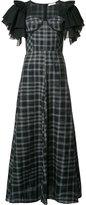 Tome long ruffle sleeve dress