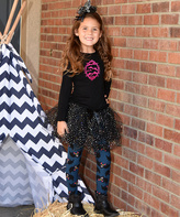 Beary Basics Black & Purple Bat Top & Sparkle Tutu - Toddler & Girls
