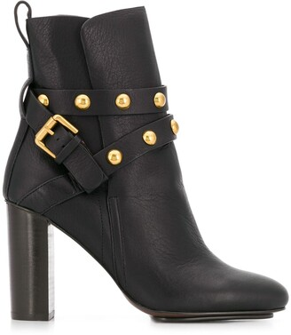 See by Chloe Stud-Embellished Ankle Boots