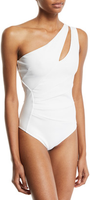 Chiara Boni Ani One-Shoulder Solid One-Piece Swimsuit