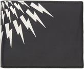 Neil Barrett Black Nubuck Classic Thunderbolt Wallet