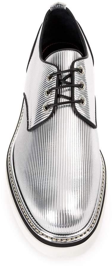 Bruno Bordese metallic Derby shoes