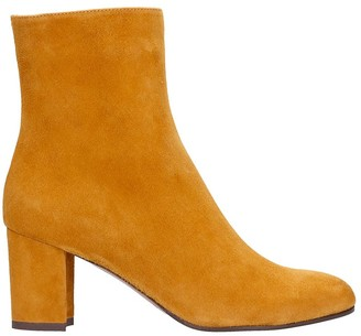 L'Autre Chose High Heels Ankle Boots In Leather Color Suede
