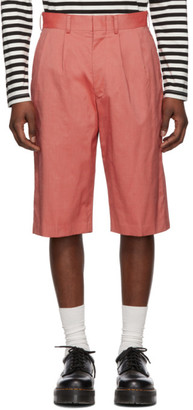 Junya Watanabe Red Nylon Chambray Shorts