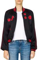 The Kooples Embroidered Bomber Jacket