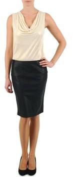 La City JUPE BIMAT women's Skirt in Black