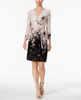 Calvin Klein Printed Faux-Wrap Dress, Regular & Petite Sizes