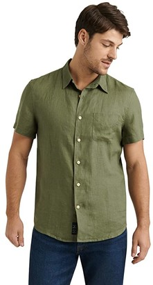 Lucky Brand Short Sleeve San Gabriel Shirt (915 Green) Men's Clothing
